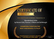 Indepedent Short Film Award Honorable Me