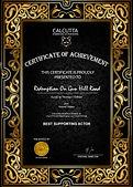 Calcutta International Cult Film Festival CICFF  Best Supporting Actor Award Thomas J. O'Brien from Redemption On Gun Hill Road shortfilm