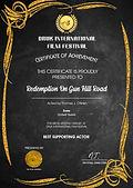 DRUK International Film Festival Best Supporting Actor Award Thomas J. O'Brien Redemption On Gun Hill Road shortfilm