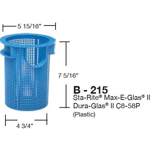B-215 Basket Fits Starite Maxi II and Maxi Pro C8-58P