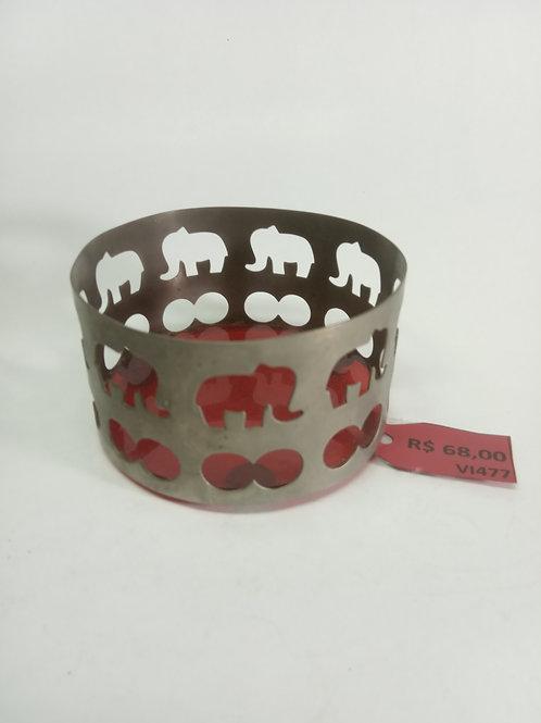 Pote ferro elefante vazado antigo