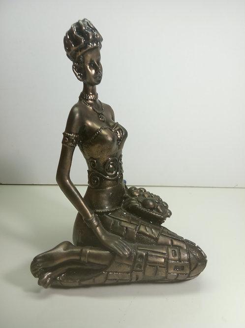 Estatueta Africana Sentada
