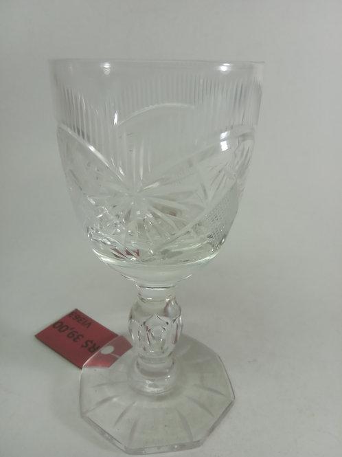 Taça cristal lapidado pequena