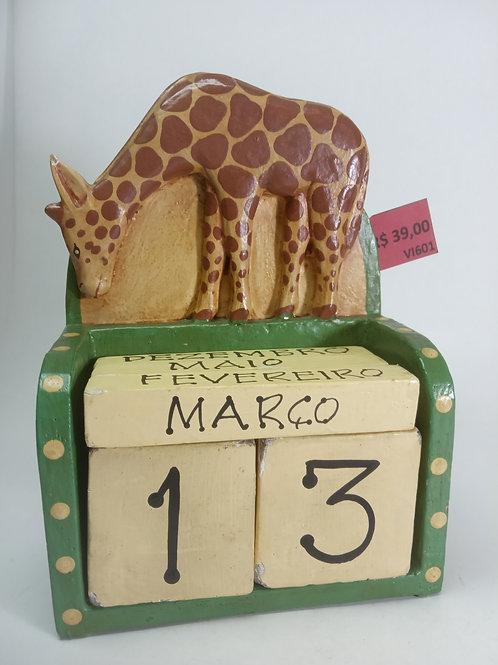 Calendário girafa