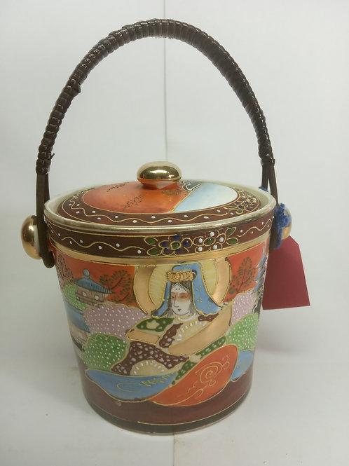 Porta chá de porcelana colorido