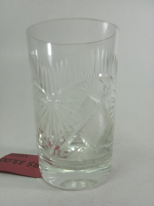 Copo de licor cristal lapidado