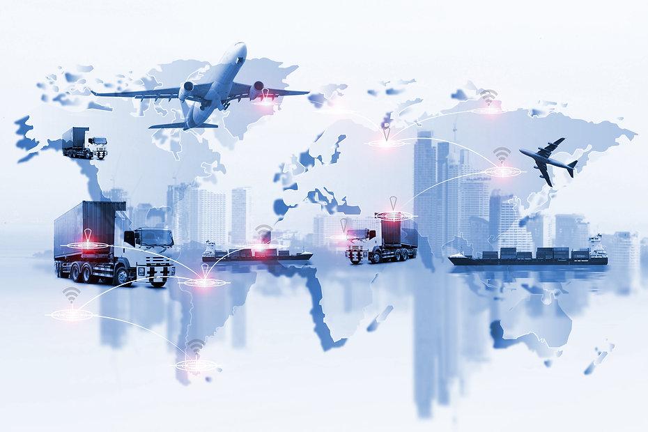 Global logistics network Web site concep