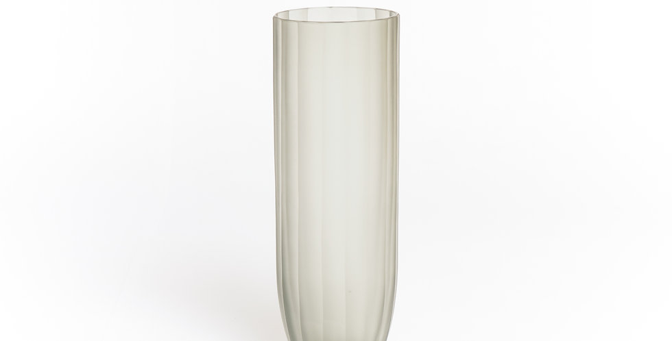 CARVED GLASS STRAIGHT VASE