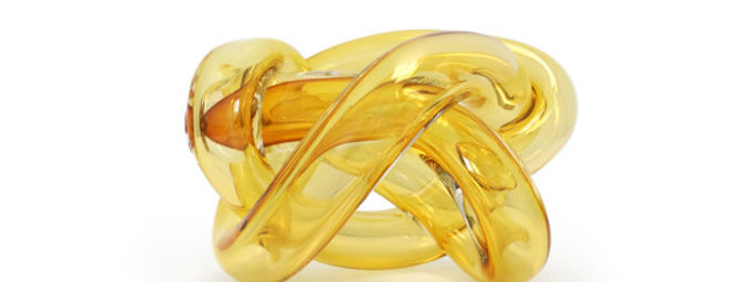 YELLOW HANDBLOWN CRYSTAL WRAP