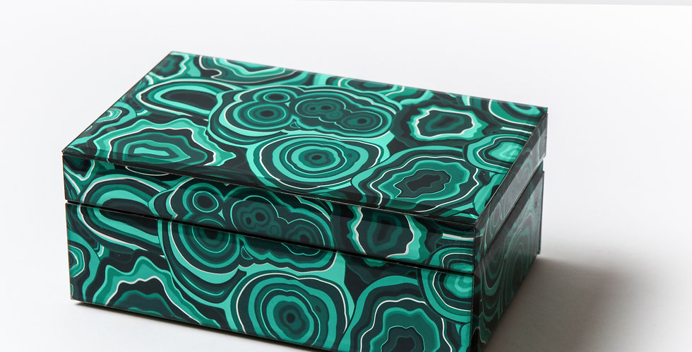 MEDIUM MALACHITE BOX