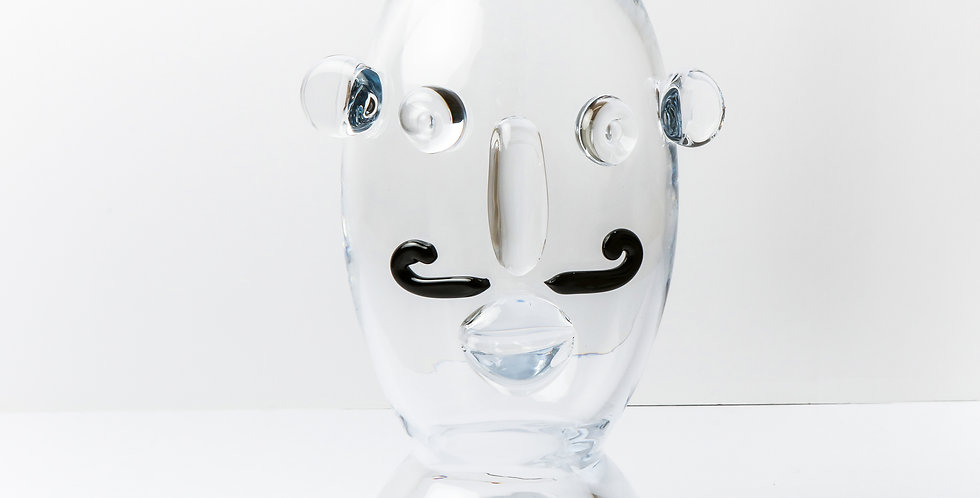 GLASS FACE VASE