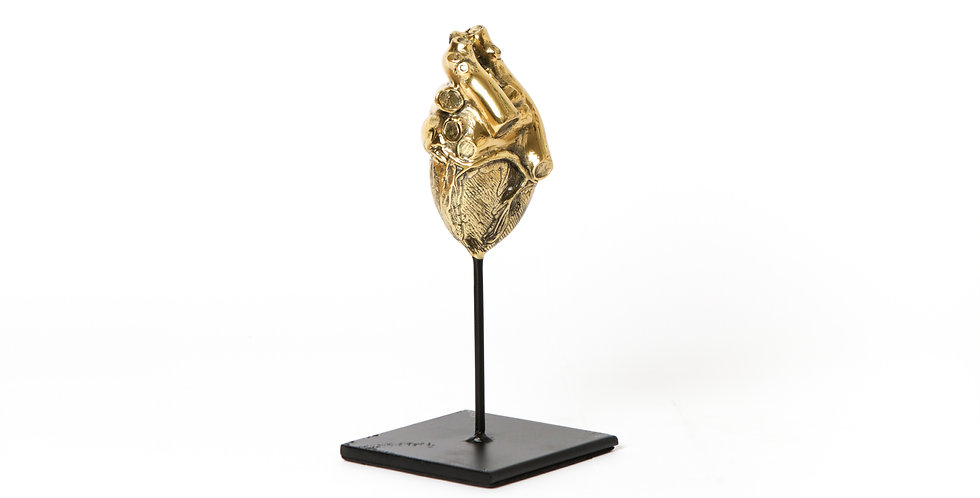 HEART SCULPTURE IN BRASS