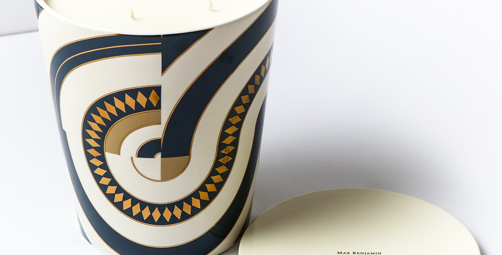 PORCELAIN CANDLE/ OR EGYPTIEN