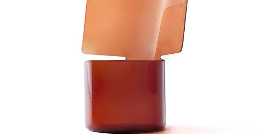 RIFLESSI RED GLASS VASE