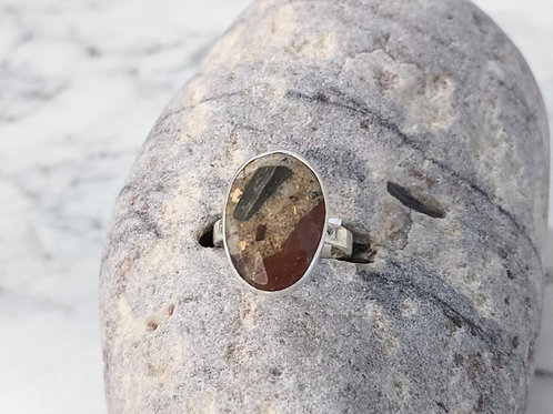Oval Pudding Stone Ring