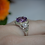 Thumbnail: Amethyst Halo Ring