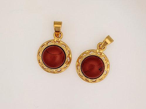 Plated Red Jasper Pendants
