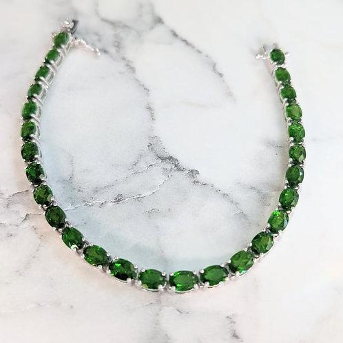 12.5ct Genuine Chrome Diopside Gemstone Bracelet