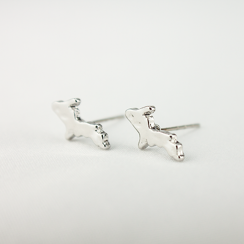 Stainless Steel UP Michigan Post Earrings