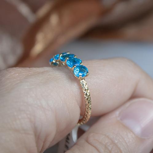 Neon Blue Apatite Ring
