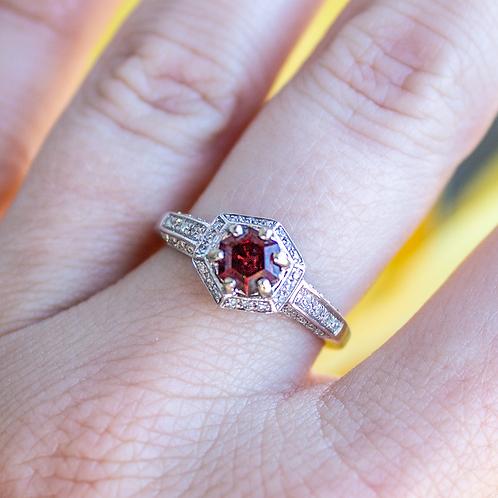 Delyth Garnet Ring