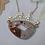 Thumbnail: Pudding Stone Large Bridge Necklace