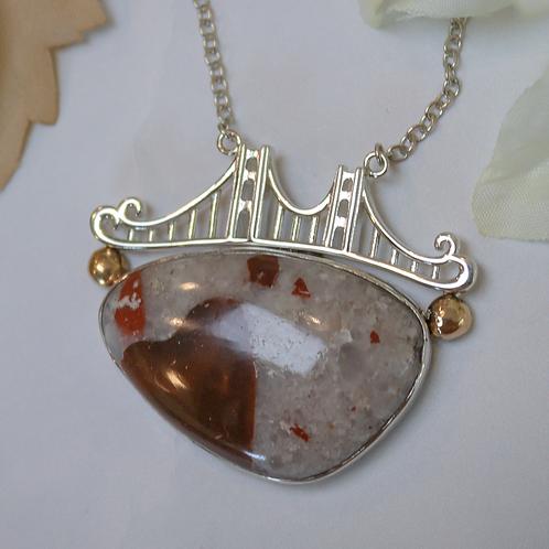 Pudding Stone Large Bridge Necklace