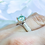 Thumbnail: Maire Ice Blue Moissanite & Platinum Ring