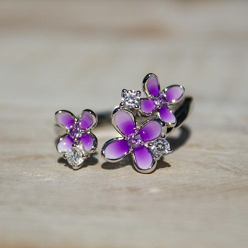 Sterling Silver Lilac Ring