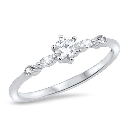 5 Stone Cubic Zirconia Ring