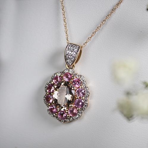 Morganite & Pink Spinel Necklace