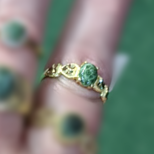 Petite Michigan Greenstone Ring