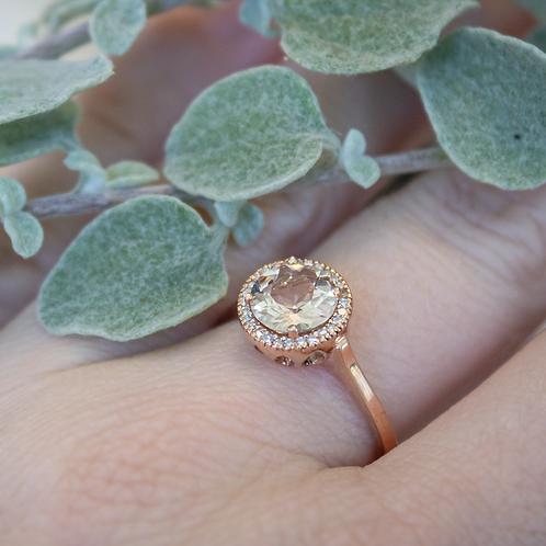 10kt Rose Gold & Morganite Ring