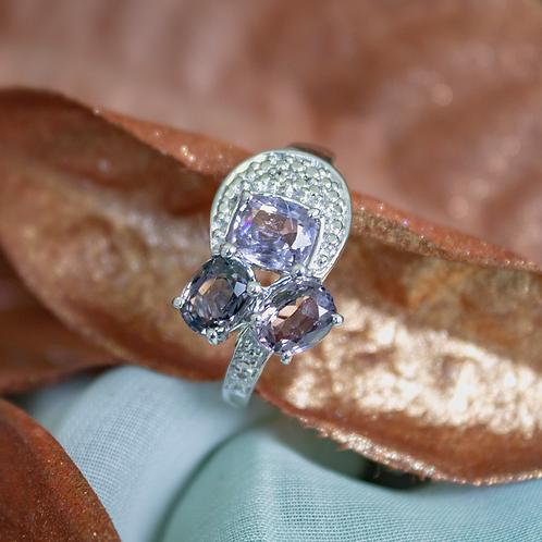 Multi-Color Purple Tourmaline Ring