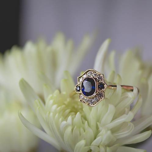 Brevani Sapphire & Diamond Ring