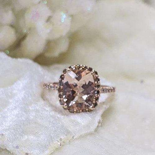 Evalina Morganite Rose Gold Ring