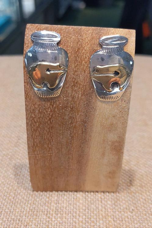 Sterling Bear Earrings