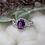 Thumbnail: Amethyst & Diamond Ring