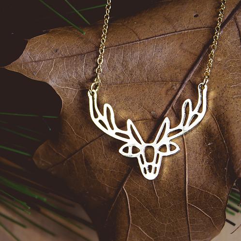 Geometric Deer Necklace