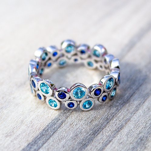 Blue Spinel Bubble Ring