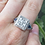 Thumbnail: Diamond and Sapphire Square Ring
