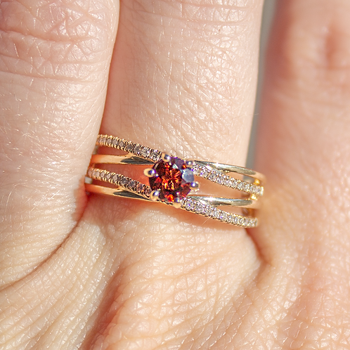 Alita Garnet Ring