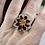 Thumbnail: Garnet & Welo Opal Flower Ring