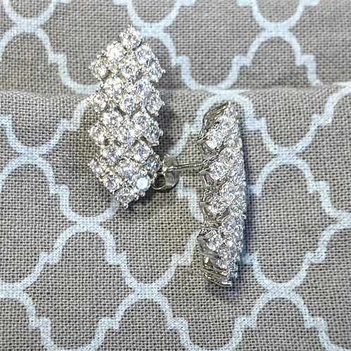 Noelani Sterling Silver CZ Earrings