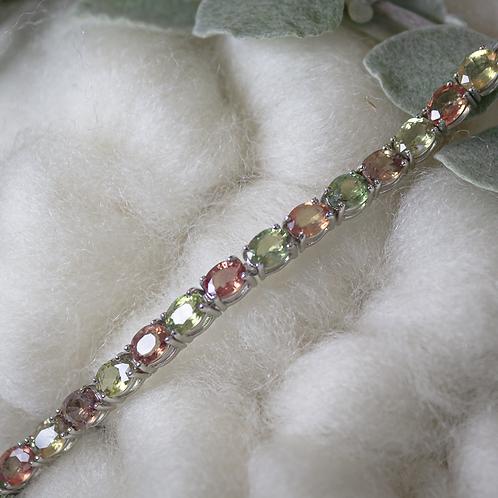 Green & Pink Sapphire Bracelet