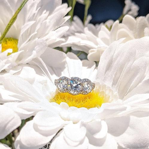 The Juli Three Stone CZ Ring