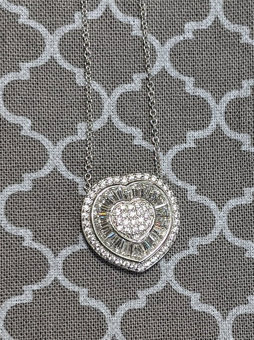 Sophie Sterling Silver CZ Necklace