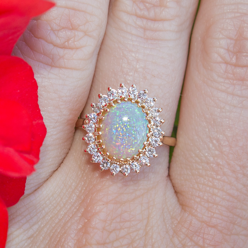 Australian Opal Yellow Gold Ring