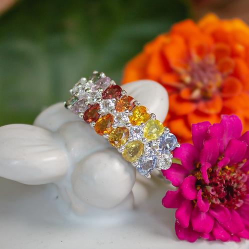 Moria Rainbow Sapphire Ring