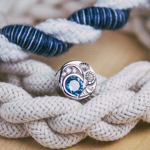Blue Spinel Wave Bead